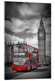 Acrylglasbild  LONDON Red Bus and Big Ben - Melanie Viola