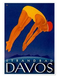 Premium-Poster  Strandbad Davos - Travel Collection