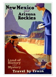 Premium-Poster Reise nach New Mexico, Arizona