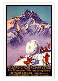Premium-Poster  Wintersport in Villars, Chesieres u. Arveyes - Travel Collection
