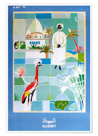 Premium-Poster  Sudan Vintage Reiseplakat - Travel Collection