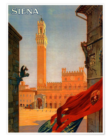 Premium-Poster  Siena, Toskana in Italien - Travel Collection