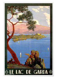 Premium-Poster  Italien - Le Lac de Garda - Travel Collection