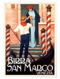 Premium-Poster  Italien- Birra San Marco Venedig - Travel Collection