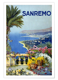 Premium-Poster  Italien - Sanremo - Travel Collection