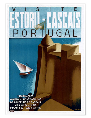 Premium-Poster Portugal - Estoril-Cascais