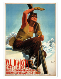 Premium-Poster  Val d'Aosta - Travel Collection
