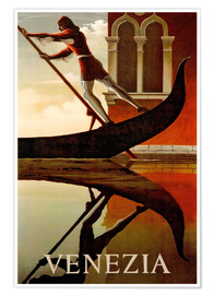 Premium-Poster  Italien - Gondoliere in Venedig - Travel Collection