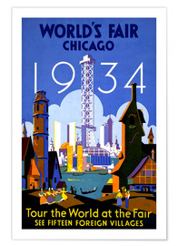 Premium-Poster  Chicago - Weltausstellung 1934 - Travel Collection