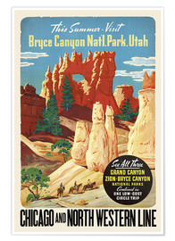 Premium-Poster Bryce Canyon National Park Utah