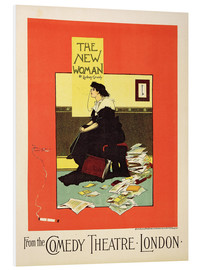 Hartschaumbild  Werbeposter 'The New Woman' von Sydney Grundy - Albert Morrow