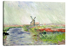 Leinwandbild  Tulpenfeld in Holland - Claude Monet