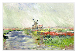 Premium-Poster  Tulpenfeld in Holland - Claude Monet