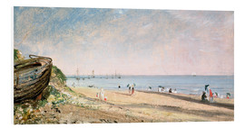Hartschaumbild  Brighton Beach in England - John Constable