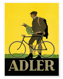 Premium-Poster  Adler Fahrräder - Advertising Collection