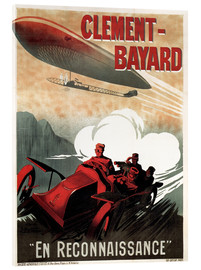 Acrylglasbild  Clement Bayard Automobile - Advertising Collection