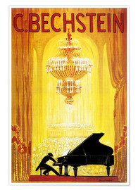 Premium-Poster  Ausstellung - C. Bechstein - Advertising Collection