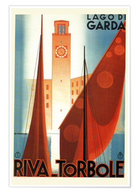 Premium-Poster  Italien - Riva Torbole (Lago di Garda) - Travel Collection