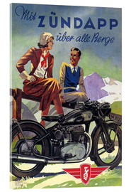 Acrylglasbild  Mit Zündapp über alle Berge - Advertising Collection