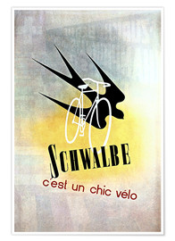 Premium-Poster  Fahrräder - Schwalbe, cest un chic velo - Advertising Collection