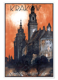 Premium-Poster  Krakau - Polen - Travel Collection
