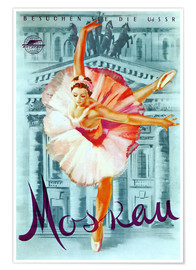 Premium-Poster  Moskau - russisches Ballett - Advertising Collection