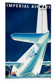 Acrylglasbild  Imperial Airways - Wasserflugzeug - Travel Collection