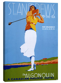 Leinwandbild  St. Andrews - Golf spielen - Advertising Collection