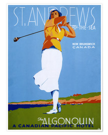 Premium-Poster  St. Andrews - Golf spielen - Advertising Collection