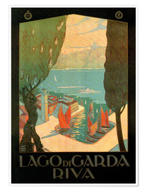 Premium-Poster  Italien - Riva am Gardasee - Travel Collection