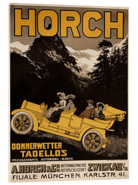 Acrylglasbild  Horch Autos - Donnerwetter tadellos - Advertising Collection