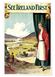 Premium-Poster  sieh Irland zuerst - Travel Collection