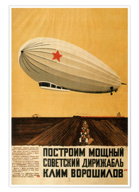 Premium-Poster  Russischer Zeppelin - Travel Collection
