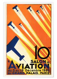 Premium-Poster 10. Salon de Aviation - Paris 1926