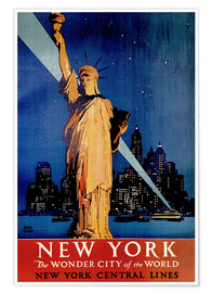 Premium-Poster  New York - Travel Collection