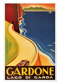 Premium-Poster  Italien - Gardone (Lago di Garda) - Travel Collection