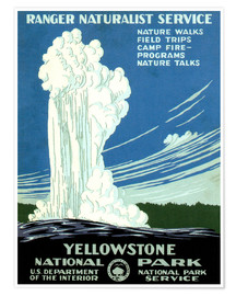 Premium-Poster Yellowstone Nationalpark