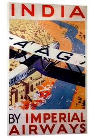 Acrylglasbild  Indien bereisen mit Imperial Airways - Travel Collection