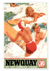 Premium-Poster  Newquay on the Cornish Coast - Travel Collection