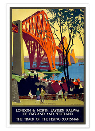 Premium-Poster Forth Bridge London Railway