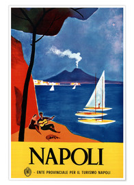 Premium-Poster  Italien - Neapel - Travel Collection