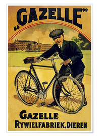 Premium-Poster  Gazelle Rywielen Fahrrad - Advertising Collection