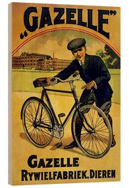 Holzbild  Gazelle Rywielen Fahrrad - Advertising Collection
