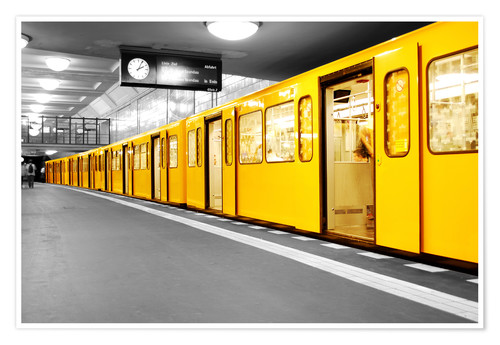 bildpics berlin subway u bahn poster online bestellen. Black Bedroom Furniture Sets. Home Design Ideas