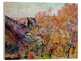 Holzbild  Das Tal der Sedelle in Crozant, 1898 - Jean Baptiste Armand Guillaumin