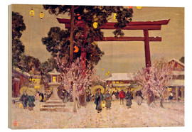 Holzbild  View of a Shinto Shrine, c.1889 - Sir Alfred East