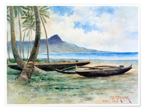 Premium-Poster Diamond Head, Hawaii, 1886