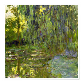 Claude Monet - Trauerweide, Der Seerosenteich in Giverny