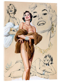 Acrylglasbild  Glamour Pin Up-Studie - Al Buell