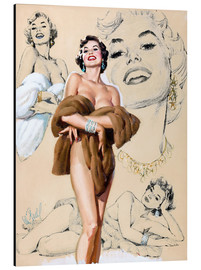 Alubild  Glamour Pin Up-Studie - Al Buell